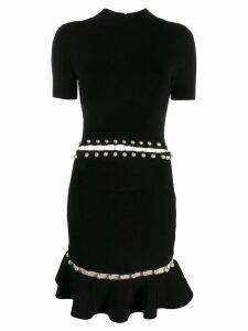 Alice+Olivia short-sleeve fitted dress - Black