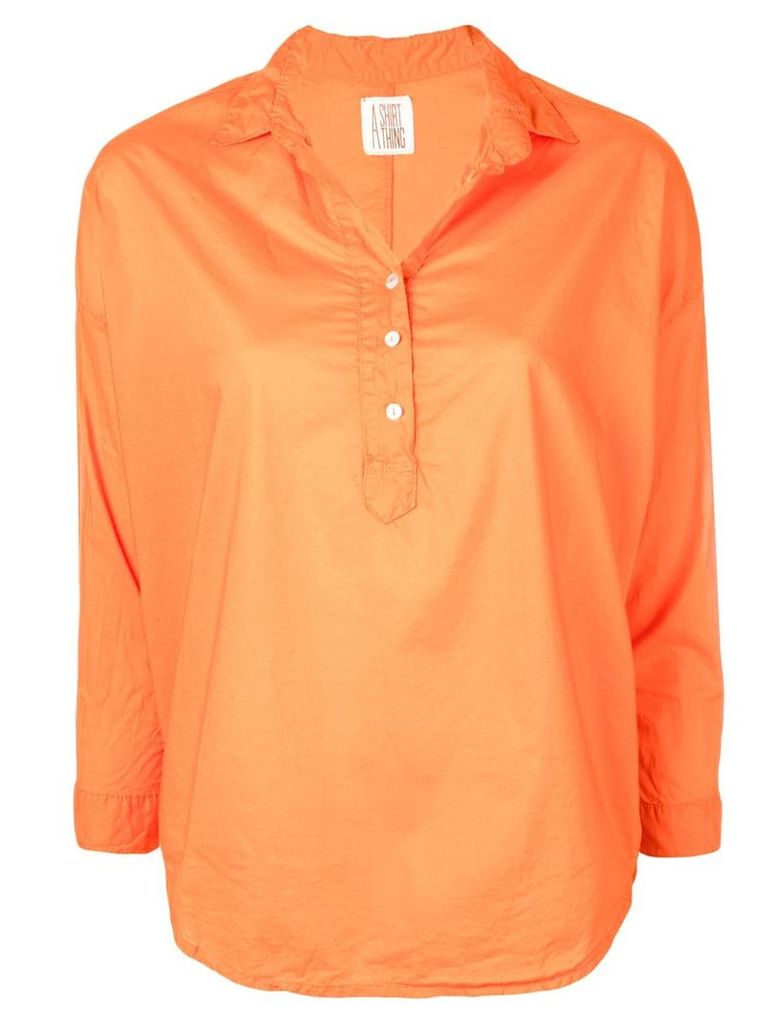 A Shirt Thing classic tunic blouse - Orange