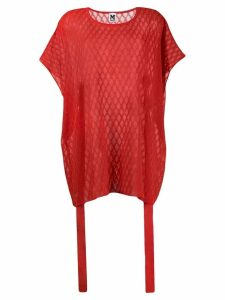 M Missoni oversized knitted top - Red