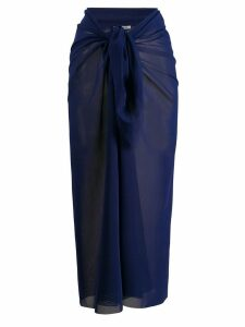 Fisico knot detail sarong skirt - Blue