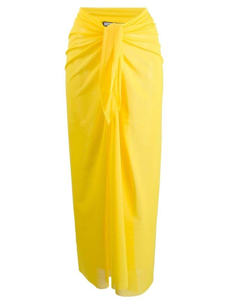 Fisico knot detail sarong skirt - Yellow