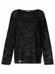 M Missoni zigzag knit jumper - Black