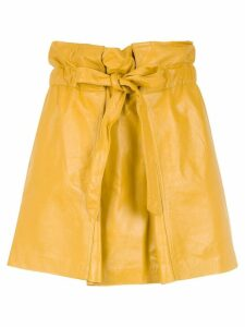 Andrea Bogosian belted leather skirt - Yellow