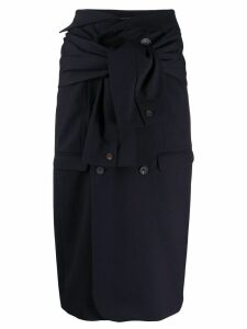 Frenken flared midi skirt - Blue