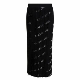BALENCIAGA All Over Logo Pleated Skirt