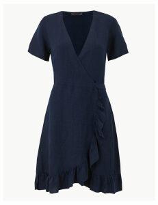M&S Collection Linen Blend Wrap Dress