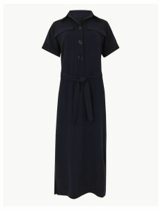 M&S Collection Button Detailed Shirt Midi Dress