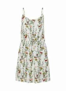 Womens **Vero Moda Multi Coloured Floral Print Camisole Dress- White, White