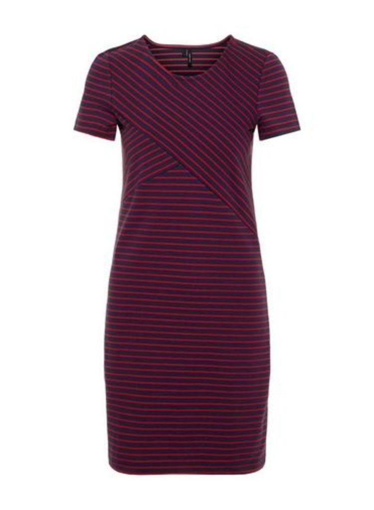 Womens **Vero Moda Navy Short Sleeve Jersey Shift Dress- Blue, Blue
