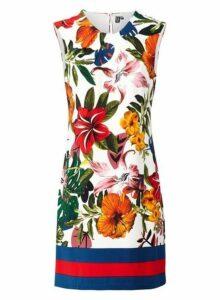 Womens *Izabel London Multi Coloured Tropical Print Shift Dress- Multi Colour, Multi Colour