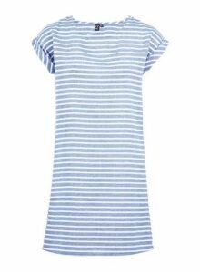Womens *Izabel London Multi Coloured Striped T-Shirt Dress- Blue, Blue