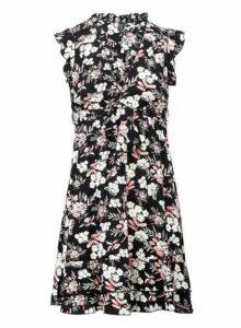 Womens *Izabel London Multi Colour Floral Print Tie Waist Dress, Multi Colour