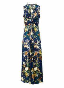 Womens *Izabel London Navy Floral Print Maxi Dress- Navy, Navy