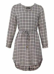 Womens *Izabel London Multi Coloured Geometric Print Shift Dress, Multi Colour