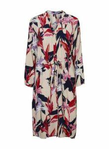 Womens **Vero Moda Multi Colour Floral Print Shirt Dress- Cream, Cream