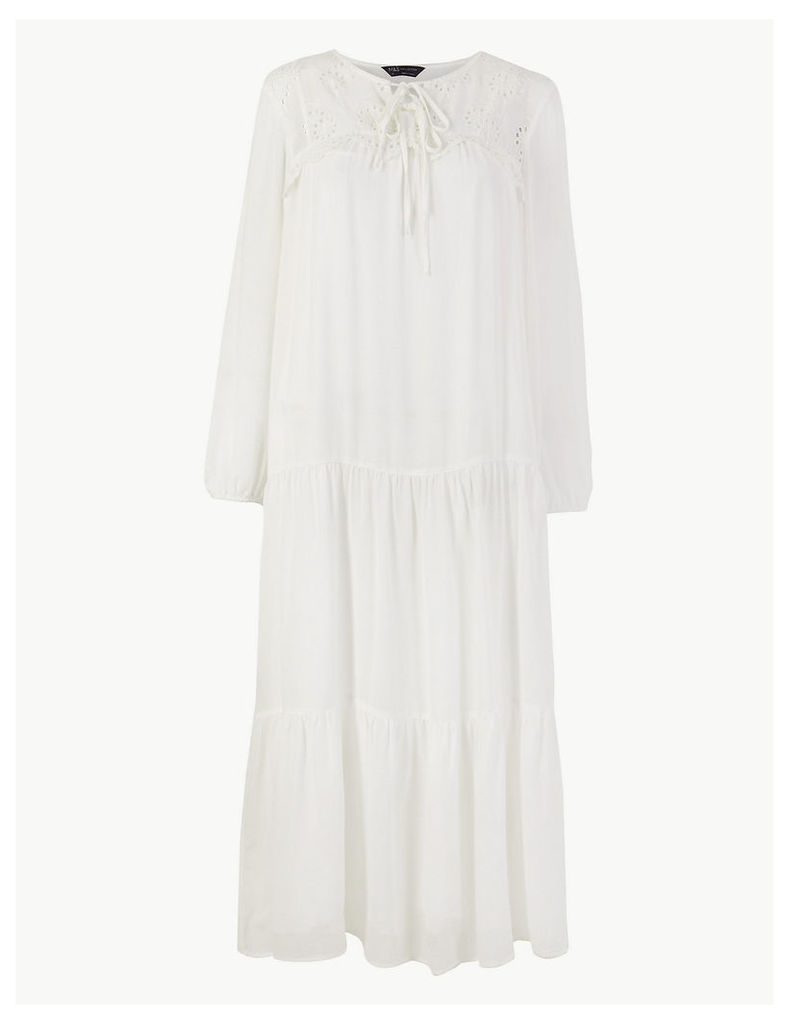 M&S Collection Embroidered Midi Relaxed Dress