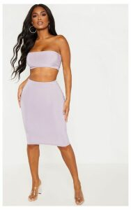 Shape Pale Violet Slinky Midi Skirt, Pale Violet