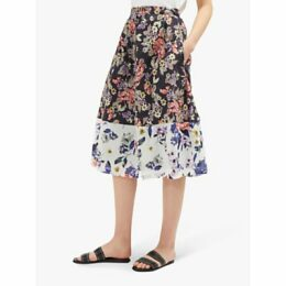 French Connection Acaena Floral Button Skirt, Multi