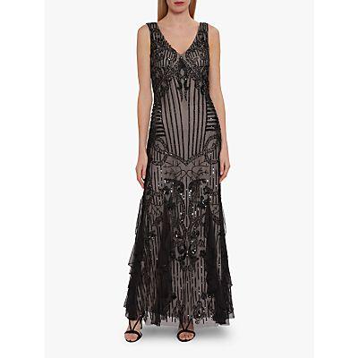 Gina Bacconi Jamila Beaded Maxi Dress, Black