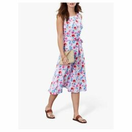 Joules Fiona Floral Sleeveless Dress, Blue/Multi