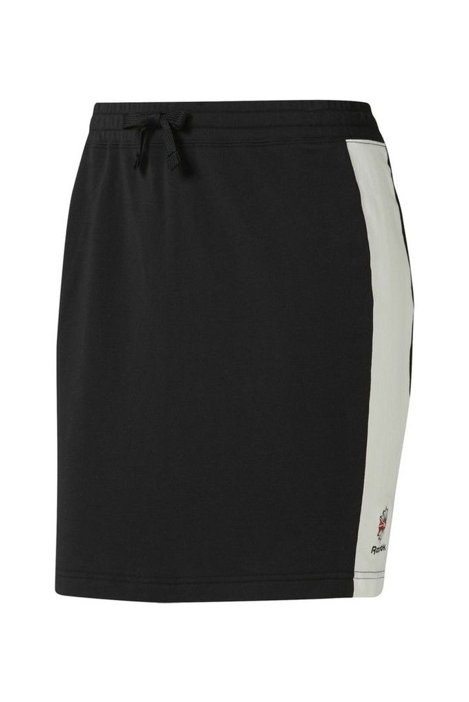 Womens Reebok Black Classics Jersey Skirt -  Black