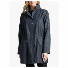 Four Seasons Linen Blend Hooded Parka