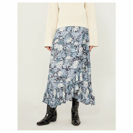 Elm high-rise crepe wrap skirt