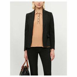New Williams single-breasted linen-blend blazer