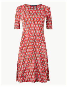 M&S Collection Floral Print Jersey Swing Dress