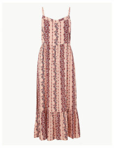 M&S Collection Floral Print Midi Slip Dress