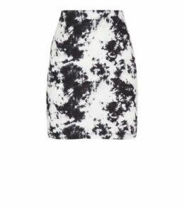 Black Tie Dye Tube Skirt New Look