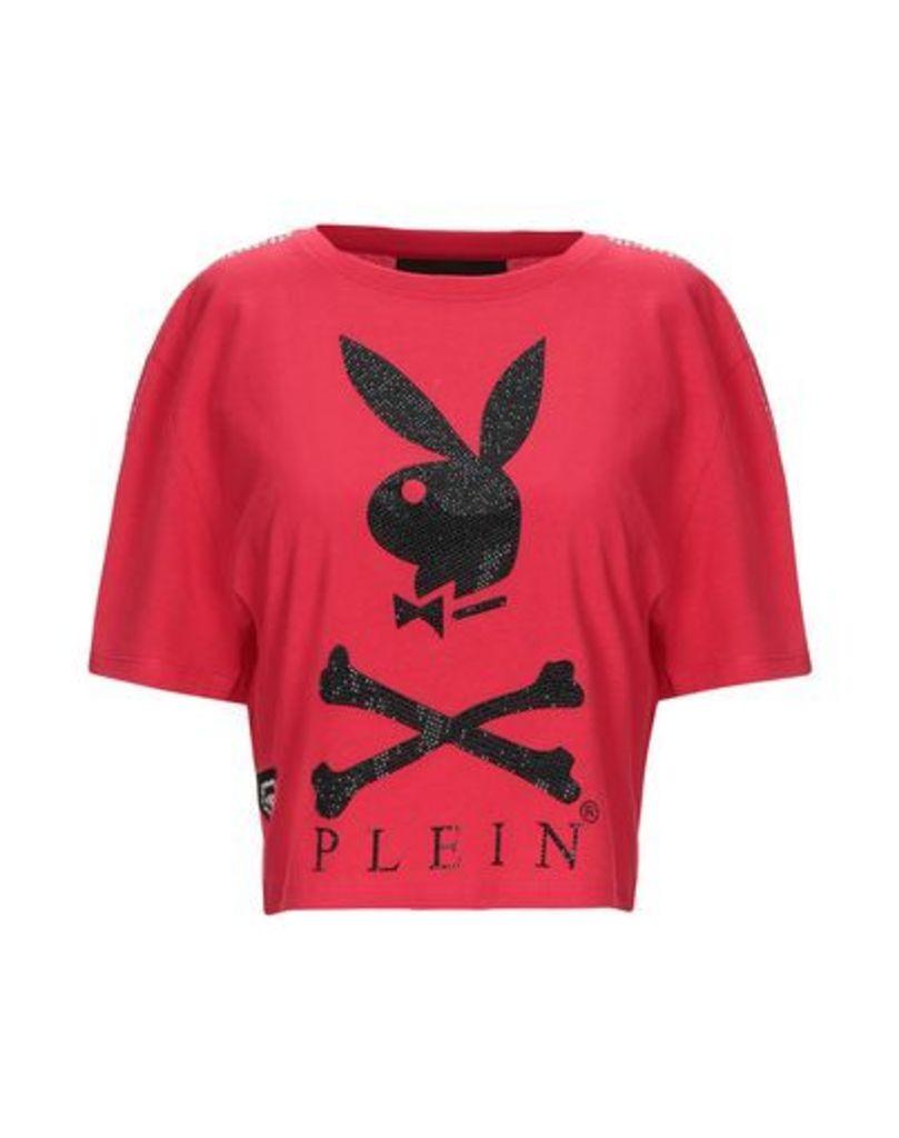 PHILIPP PLEIN x PLAYBOY TOPWEAR T-shirts Women on YOOX.COM