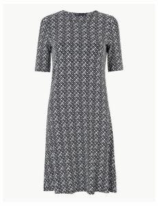 M&S Collection Geometric Print Jersey Swing Dress
