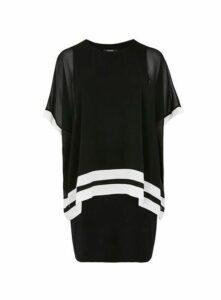 Black Overlay Dress, Black