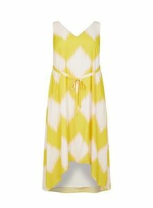 **Live Unlimited Lime Zig Zag Maxi Dress, Bright Multi