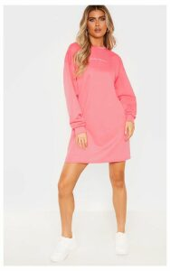 PRETTYLITTLETHING Tall Pink Embroidered Jumper Dress, Pink