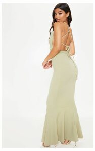 Sage Green Strappy Back Maxi Dress, Sage Green