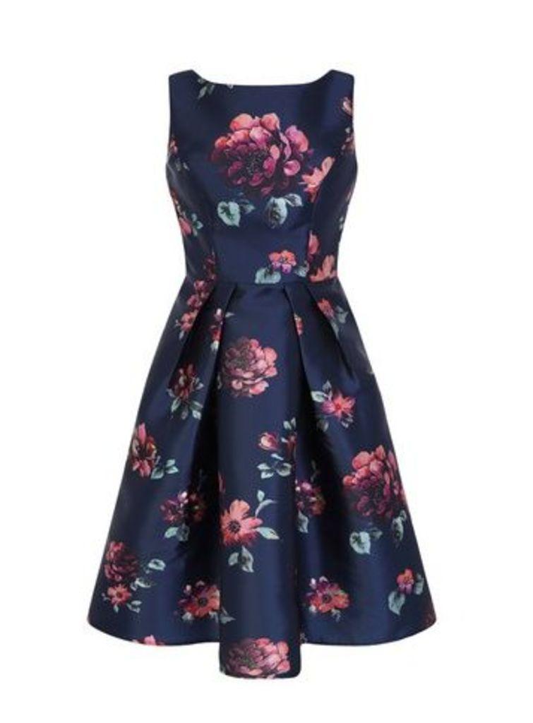 **Chi Chi London Navy Blue Midi Dress, Navy