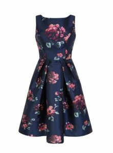 **Chi Chi London Navy Blue Midi Dress, Navy