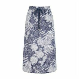 Sea Breeze Pull On Linen Skirt