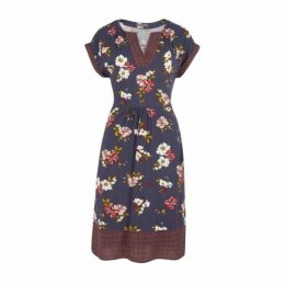Desert Blossom and Flower Border Tunic Dress