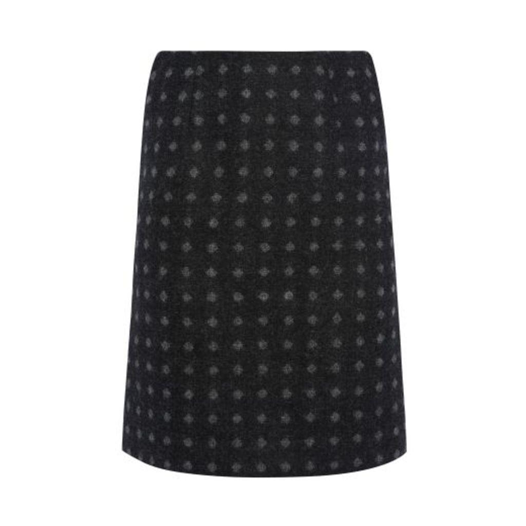 Moons Wool Geo Spot Skirt