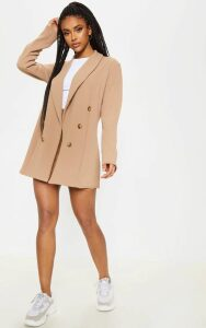 Camel Oversized Button Detail Blazer, Camel