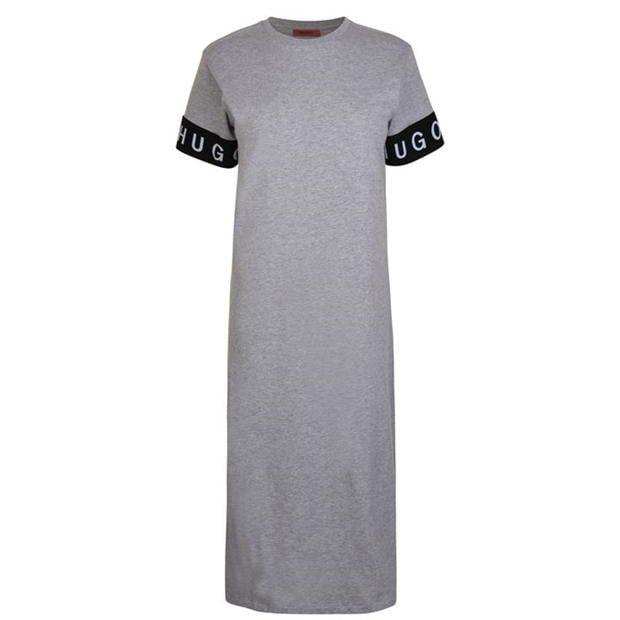 HUGO Tape Logo Midi Dress