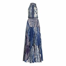 Bandanna-Print Silk Maxidress