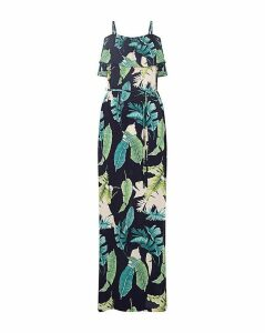 Yumi Curves Palm Print Maxi Dress
