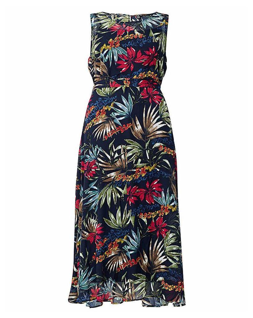Izabel London Curve Printed Maxi Dress