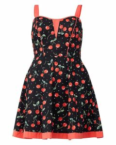 Izabel London Curve Cherry Print Dress