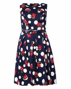 Izabel London Curve Cherry Dot Dress