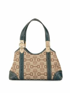 Gucci Pre-Owned Horsebit jacquard shoulder bag - Brown